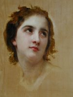 Sketch of a Young Woman [detail] by William Adolphe Bouguereau